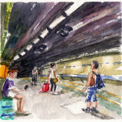 Underground People Metro Lyon France by Charlie O'Shields