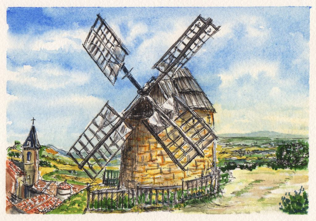 A Windmill In France