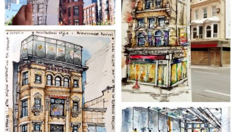 Urban Sketching by Amara Strand