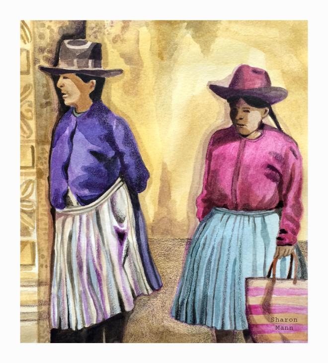 Peruvian Women by Sharon Mann