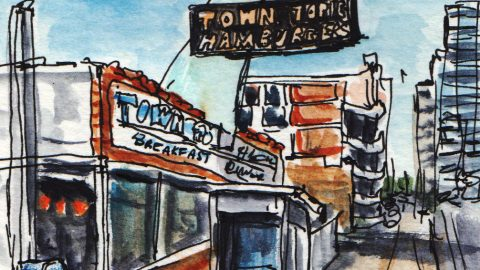 Town Topic Burgers Urban Sketching