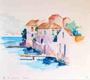 Croatia Island of Vis at Sunset by Elizabeth Brunsmen