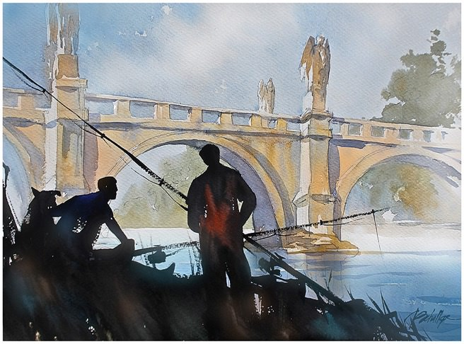 Fishing Tiber by Thomas W. Schaller