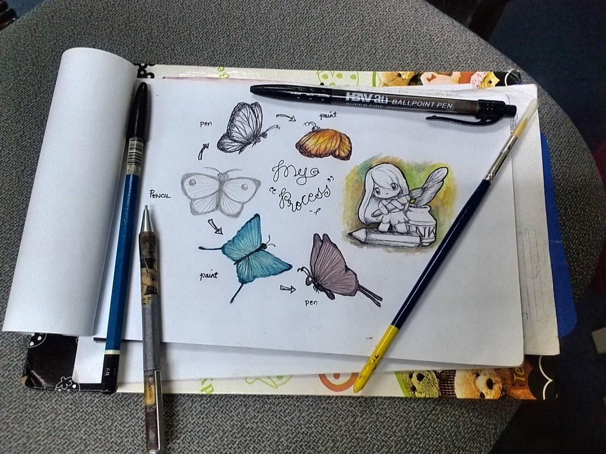 Silver Marie C. Brodit - process - doodlewash