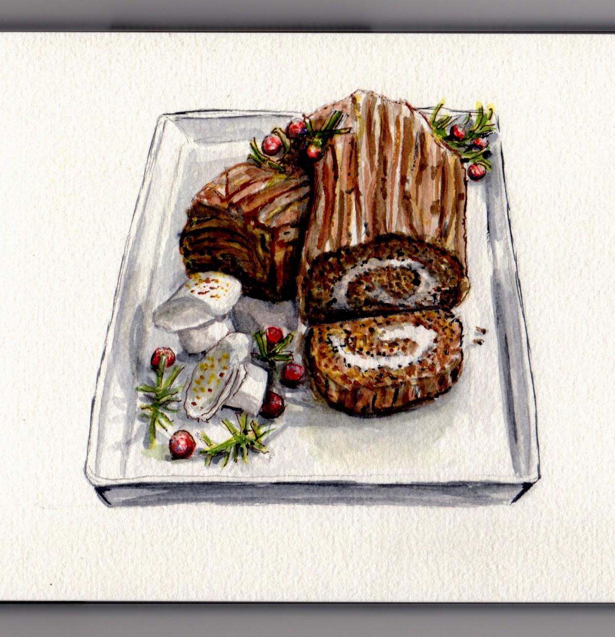 Bûche de Noël - Doodlewash