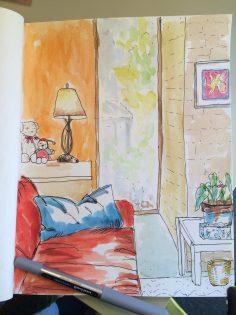 My Office - Doodlewash by Jane Cobb