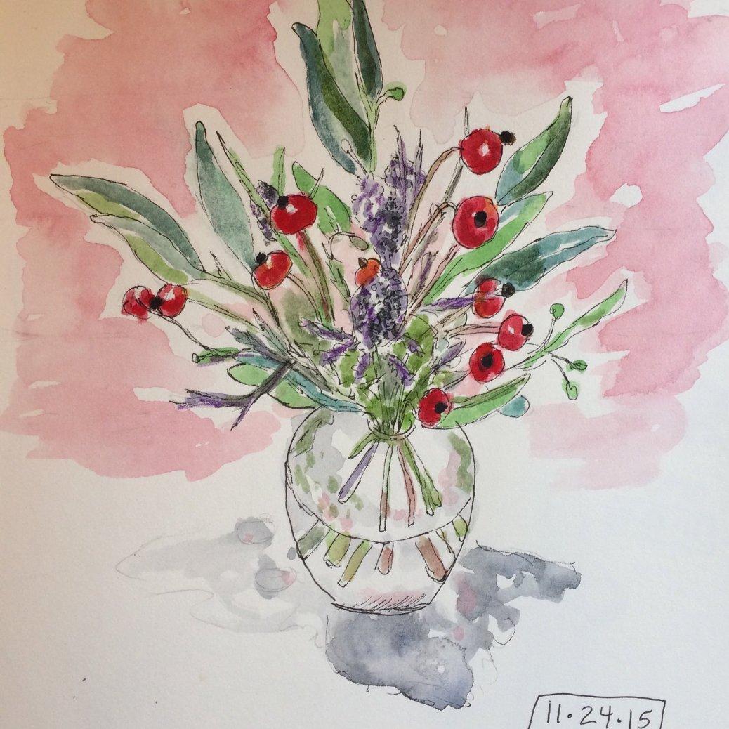Tiny Vase - Doodlewash by Jane Cobb