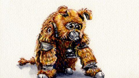 Muffit II from Battlestar Galactica Doodlewash