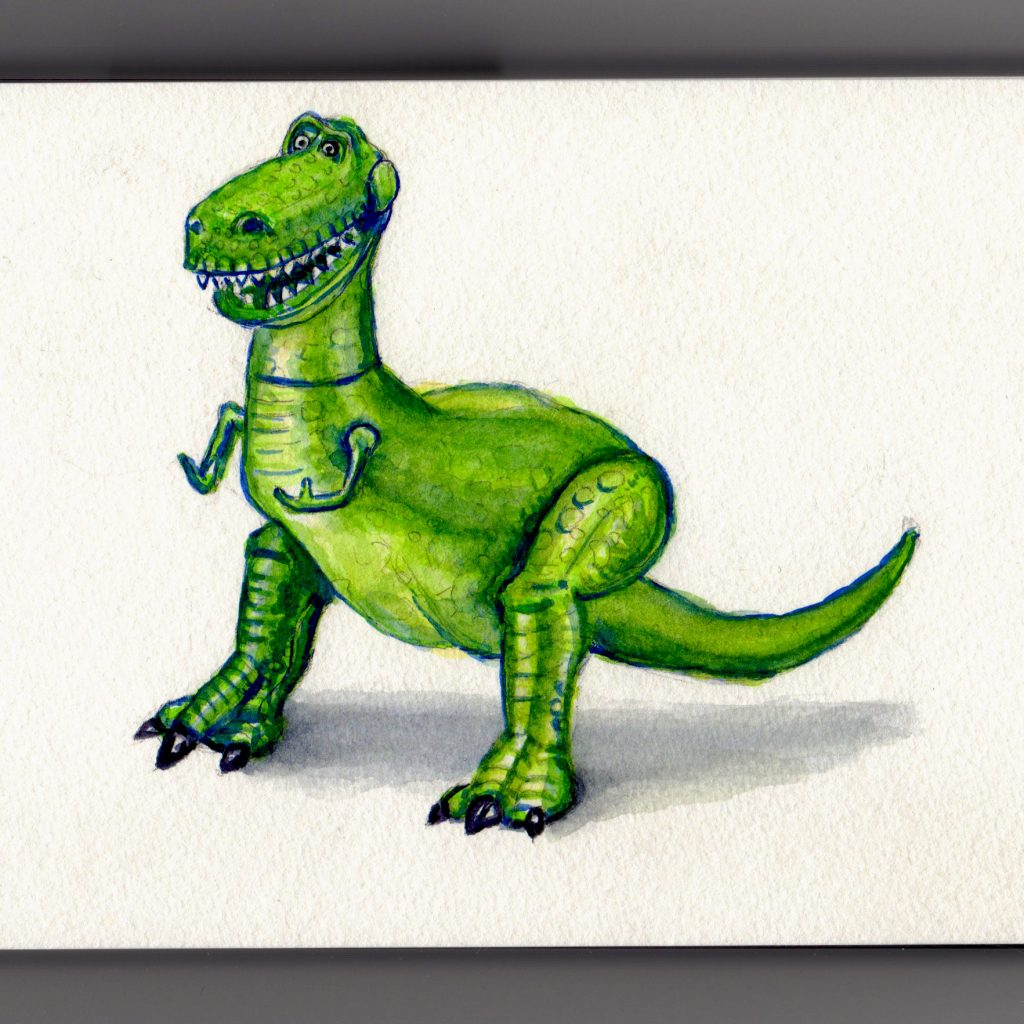 Rex from Toy Story Doodlewash