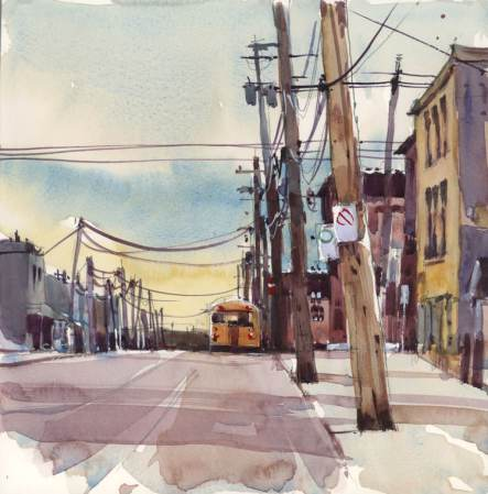 After School by Shari Blaukopf - watercolor painting and urban sketching of cityscapes in Montreal, Canada - Doodlewash