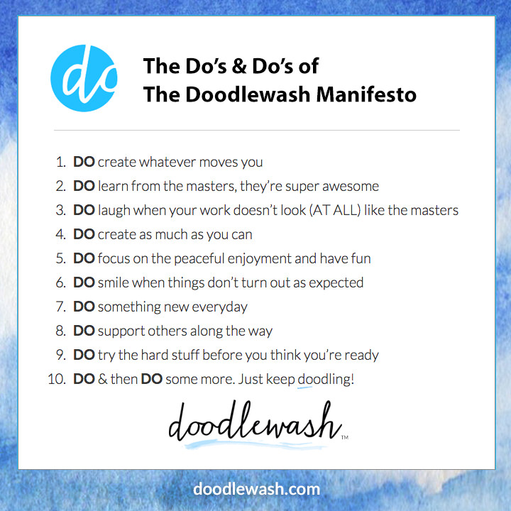 The Doodlewash Manifesto - A doodlewash is a watercolor painting or sketch