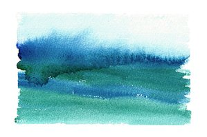 Doodlewash by Meagan Healy - abstract watercolor painting of waves in Hawaii