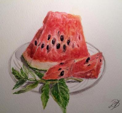 Дария La_Pitogg Doodlewash of Watermelon