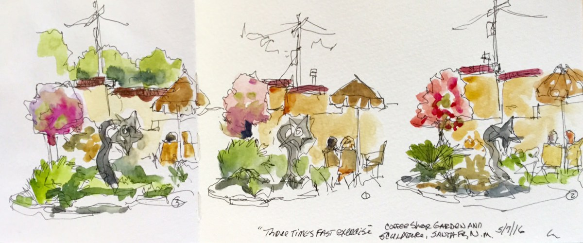 Doodlewash - Urban sketch and watercolor by Erik Madsen using the Three Time Fast Exercise by Marc Taro Holmes