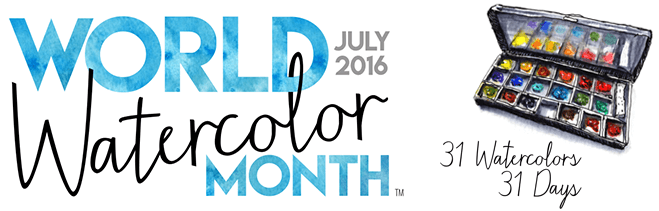World Watercolor Month July 2016 31 Watercolor In 31 Days Founded by Doodlewash