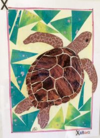 Doodlewash and watercolor sketch by M. L. Kappa of Turtle Greece