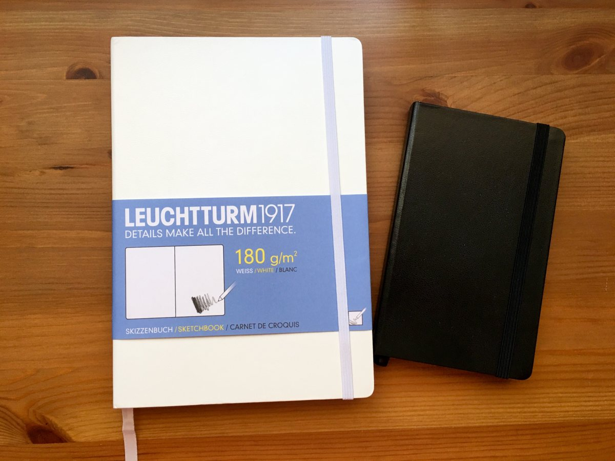Leuchtturm 1917 Sketchbook large white and small black