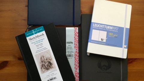Stillman & Birn, Seawhite of Brighton, Leuchtturm 1917, Leda Art Supply, and Pentalic journals sketch watercolour