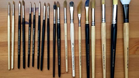 Rosemanry & Co. kolinsky sable and squirrel and synthetic brushes.