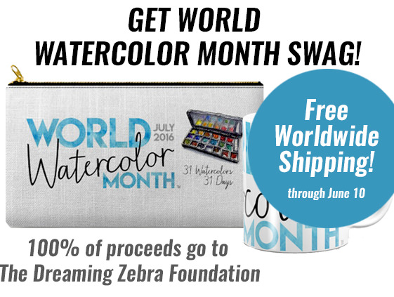 World Watercolor Month July 2016 Products Special Offer