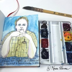 Doodlewash - #nanosketch by Karen Elaine Parsons of portait