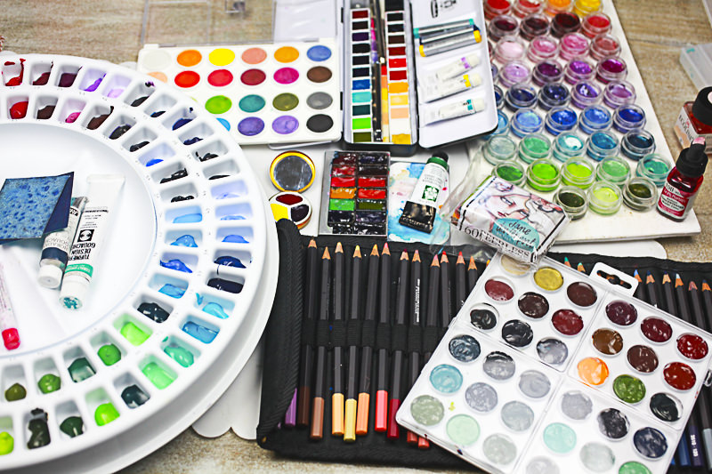 Doodlewash: Watercolor supplies of Jane Davenport