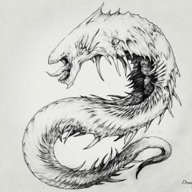 Monster sketch by Yao Khaun