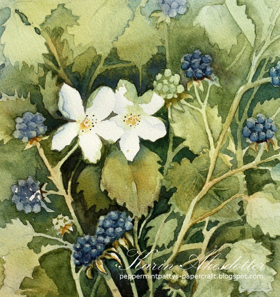 Doodlewash - watercolor painting by Karin Åkesdotter of flowers