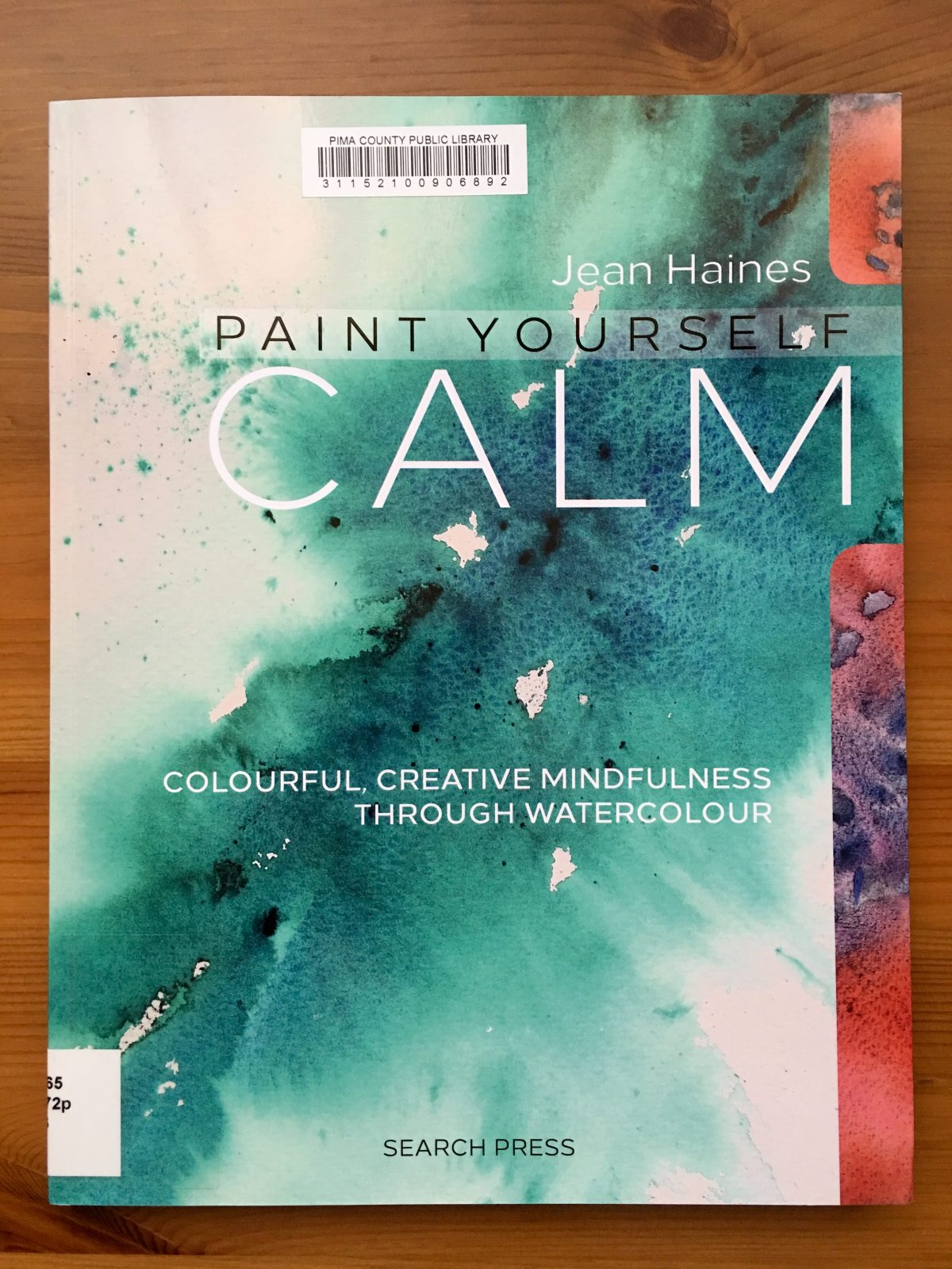 Jean Haines Paint yourself calm watercolour book