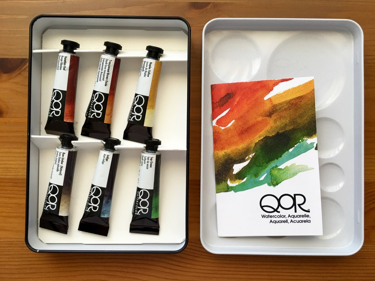 Qor high chroma and earth set of 6 watercolors