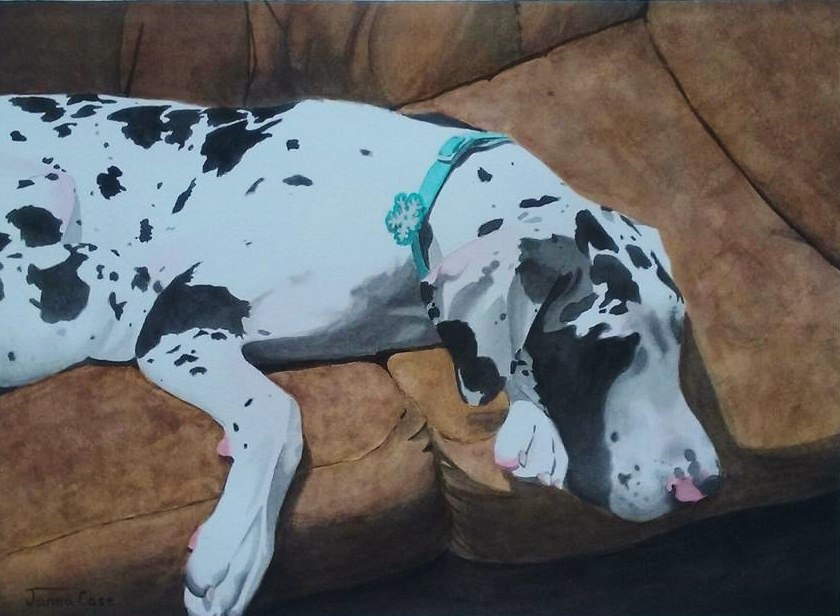 #Doodlewash - Watercolor by Janea Case of dalmation - #WorldWatercolorGroup