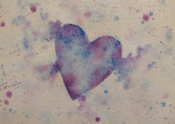 #Doodlewash - Watercolor by Janea Case of heart - #WorldWatercolorGroup