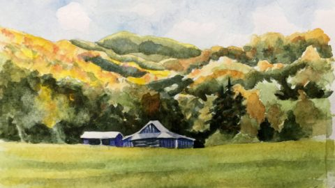 #Doodlewash - Watercolor by Annie Glacken - Valle Crucis - #WorldWatercolorGroup