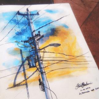 #WorldWatercolorGroup - Watercolor sketch by Noor Huda Bastomi #urbansketchers #usk - #Doodlewash
