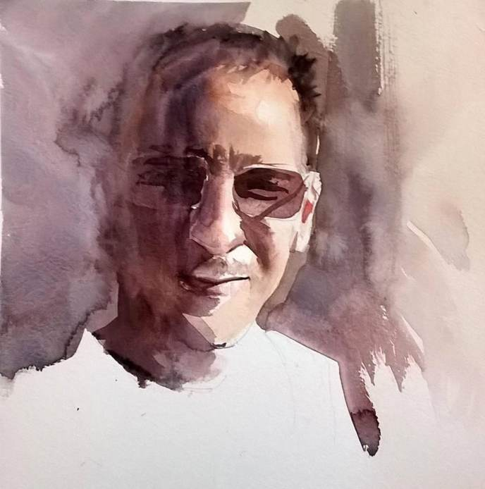#WorldWatercolorGroup - watercolor by Dalibor Popovic Miksa portrait - #doodlewash
