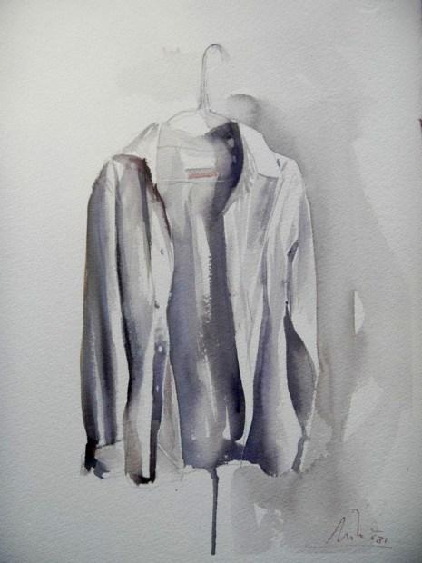 #WorldWatercolorGroup - watercolor by Dalibor Popovic Miksa of shirt - #doodlewash