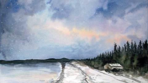 #WorldWatercolorGroup - Watercolor by Chloe Jayne Waterfield - Nocturne - #doodlewash
