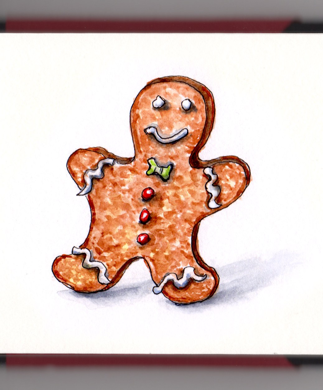 Day 14 - #WorldWatercolorGroup The Gingerbread Man story can't catch me I'm the