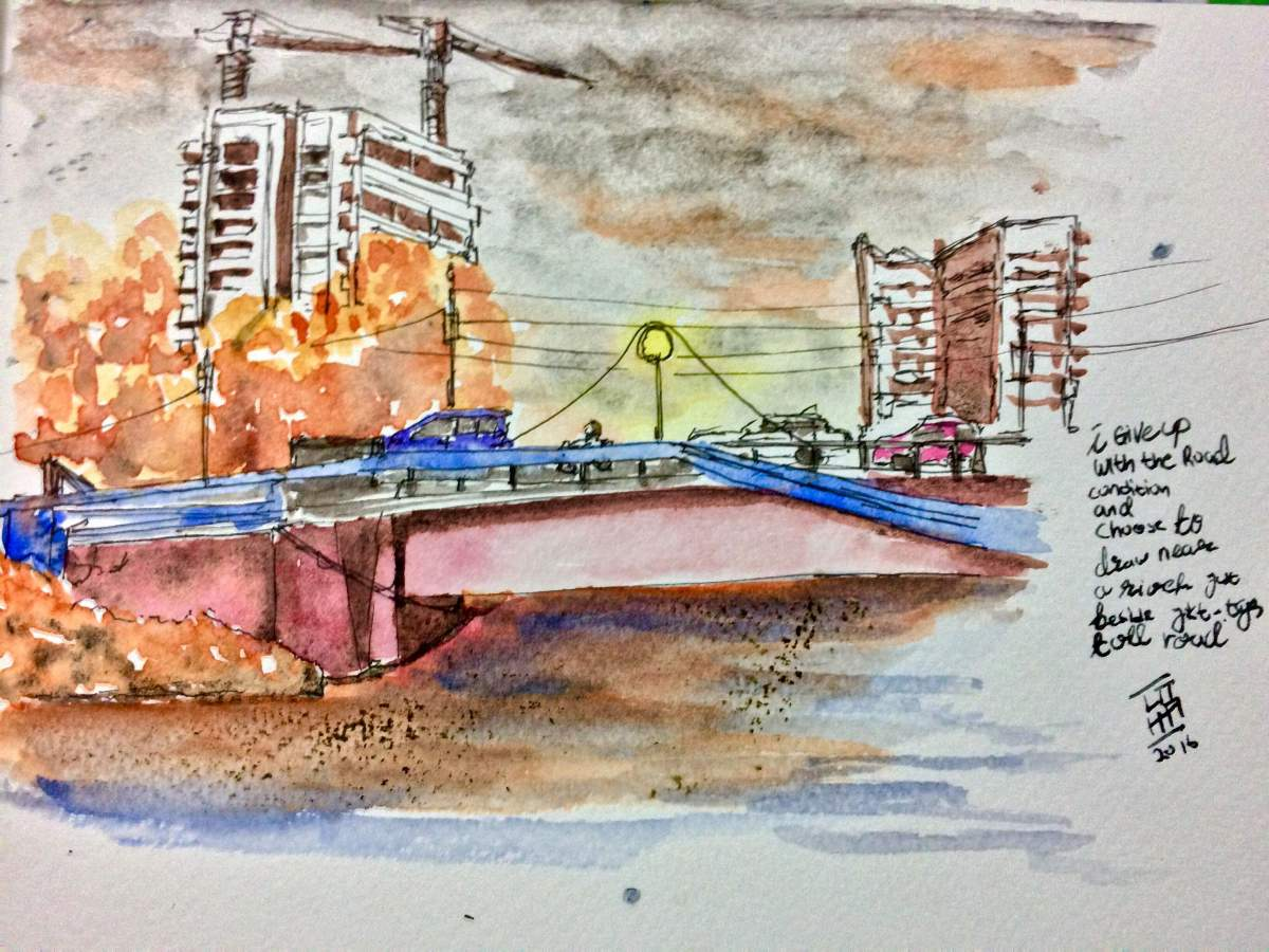 #WorldWatercolorGroup - Watercolor painting by Utha (Anak Agung Wira Suputra) - #doodlewash