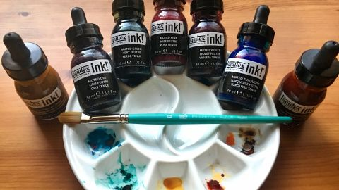 Liquitex Professional Acrylic Ink! Muted Collection and Transparent Set