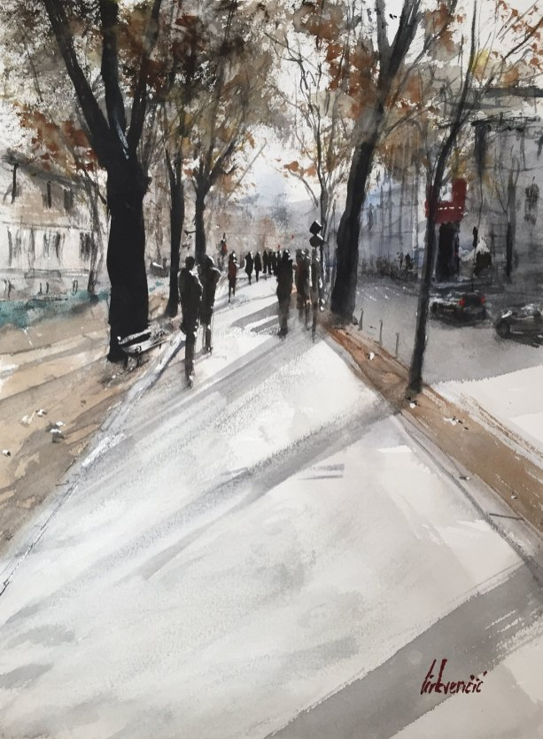 #WorldWatercolorGroup - Watercolor painting by Tihomir Cirkvencic - #doodlewash