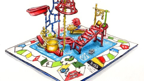 Day 1 - #WorldWatercolorGroup Building a Better Mousetrap Game Vintage Original