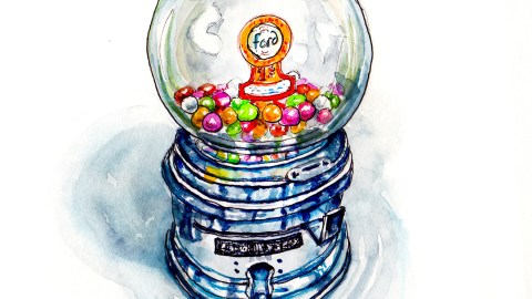 Day 25 - Ford Gumball Machine Chewing Gum Bubble Gum Vintage