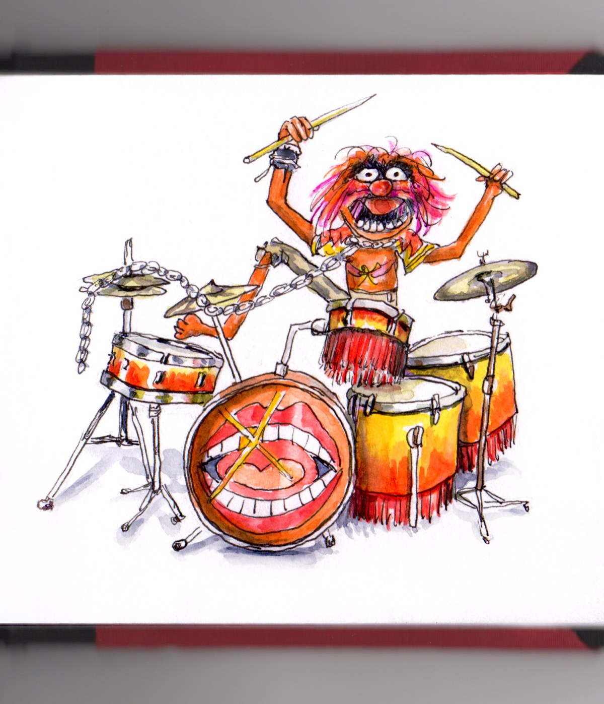 Day 5 - It's Time To Start The Music Animal From The Muppets Playing the Drums