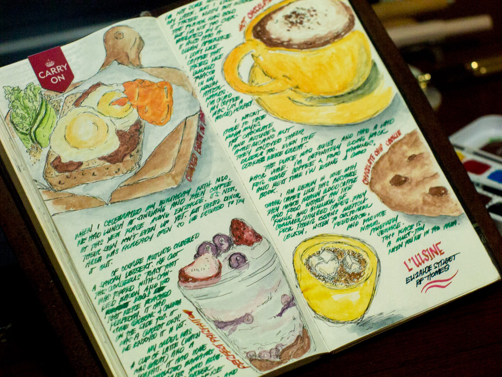 #WorldWatercolorGroup - Watercolor Art Journal page of Pao Alfonso - #doodlewash