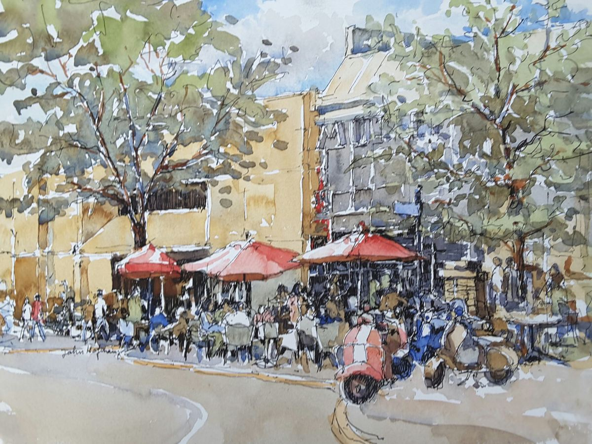 #WorldWatercolorGroup - Watercolor by John Hofman - #doodlewash