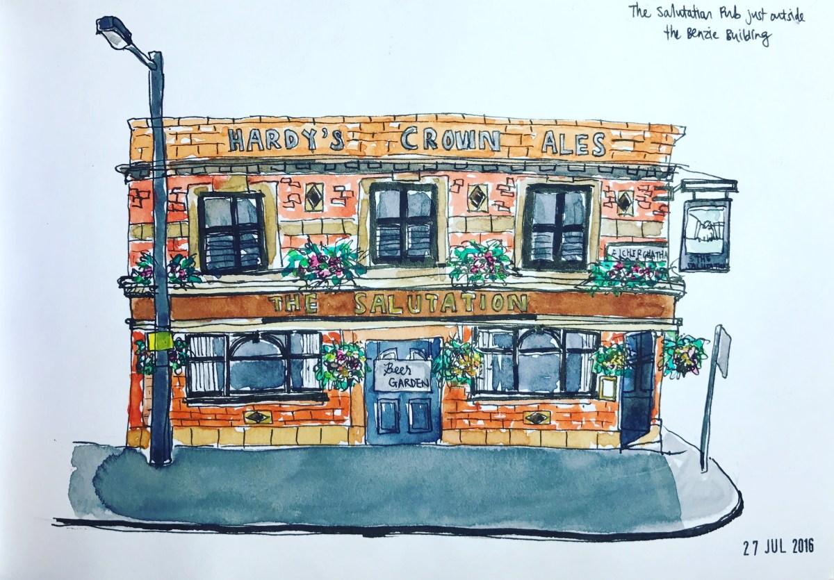 #WorldWatercolorGroup - Watercolor sketch by Yoon Min Joo - #doodlewash Urban Sketchers #usk