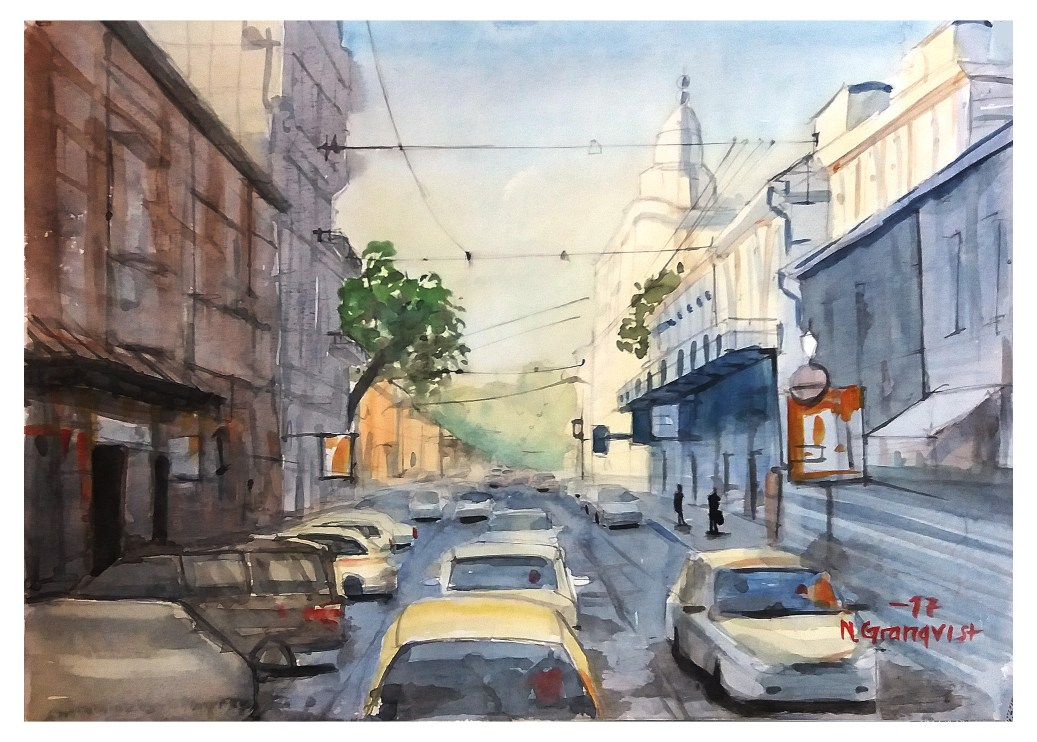 #WorldWatercolorGroup - Watercolor Painting by Niklas Granqvist - #doodlewash