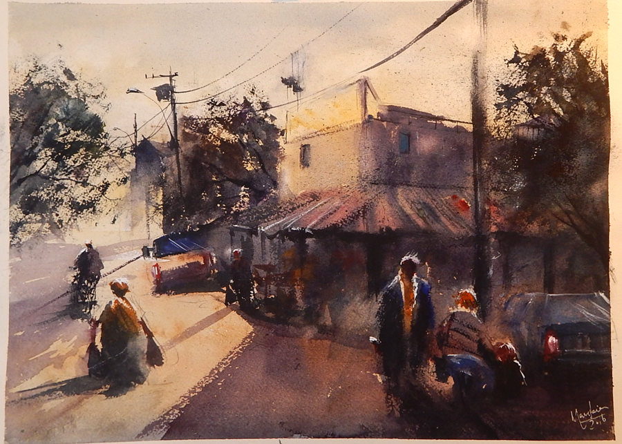 #WorldWatercolorGroup - Watercolor painting by André Mangabeira - Brazil - #doodlewash