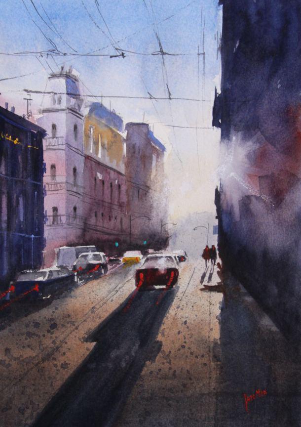#WorldWatercolorGroup - Watercolor Painting by Jan Min - #doodlewash